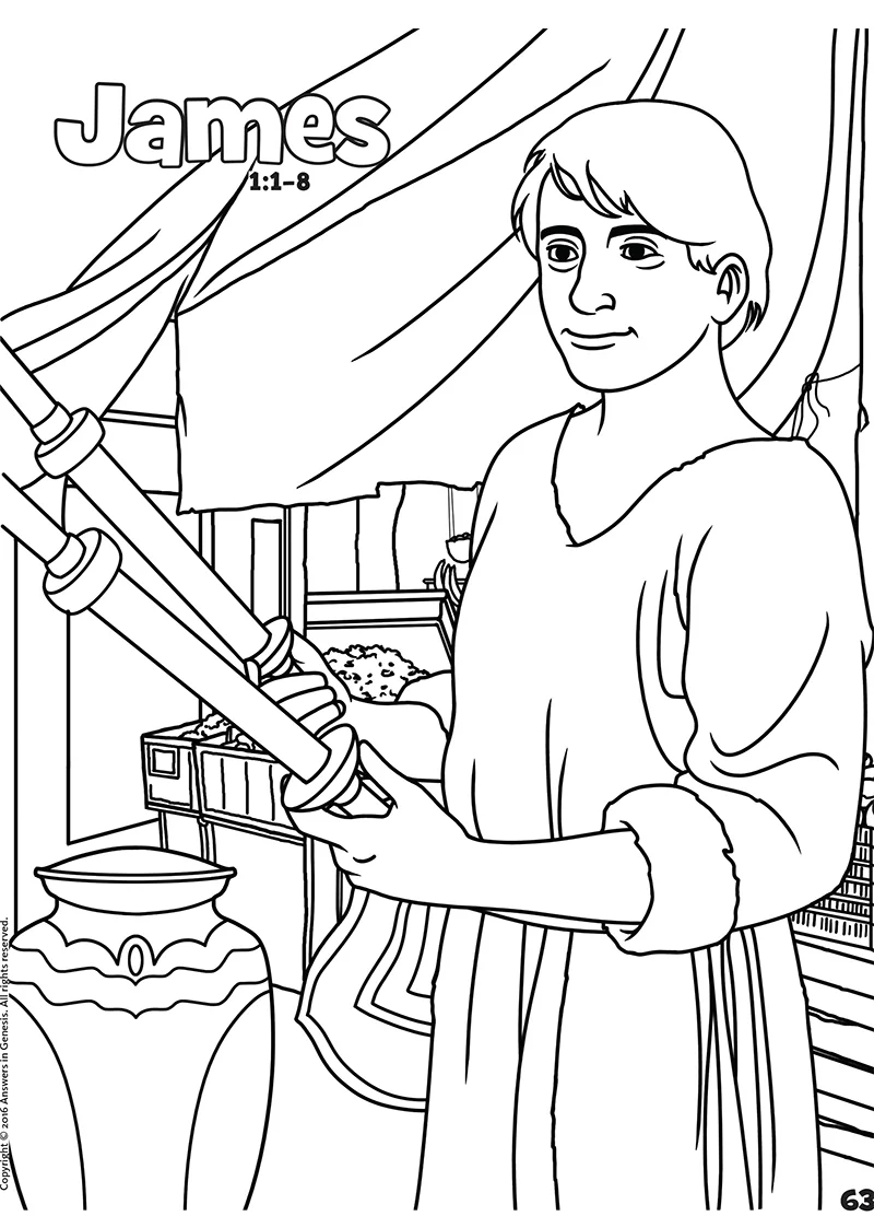 James: Books of the Bible Coloring (Kids Coloring Activity