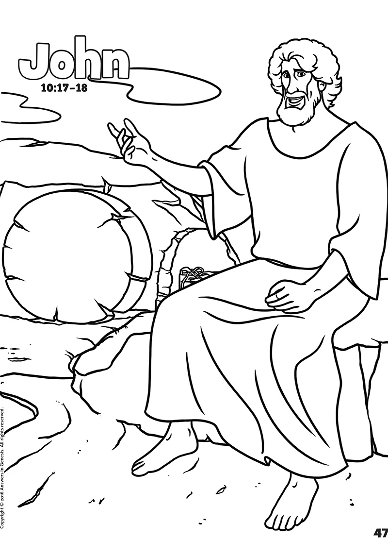 John: Books of the Bible Coloring (Kids Coloring Activity