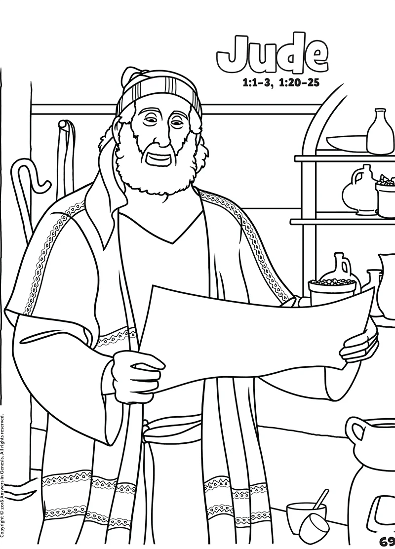 Jude: Books of the Bible Coloring (Kids Coloring Activity