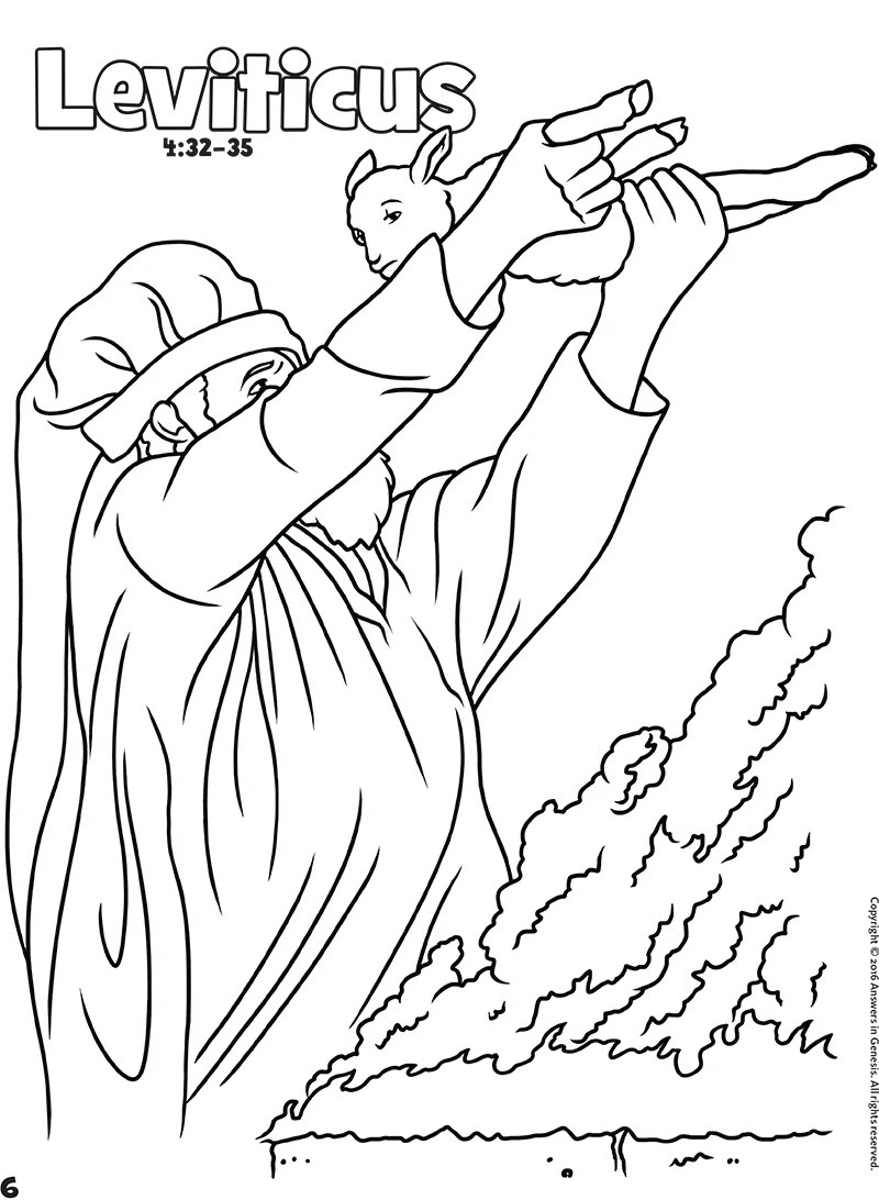 Leviticus: Books of the Bible Coloring (Kids Coloring