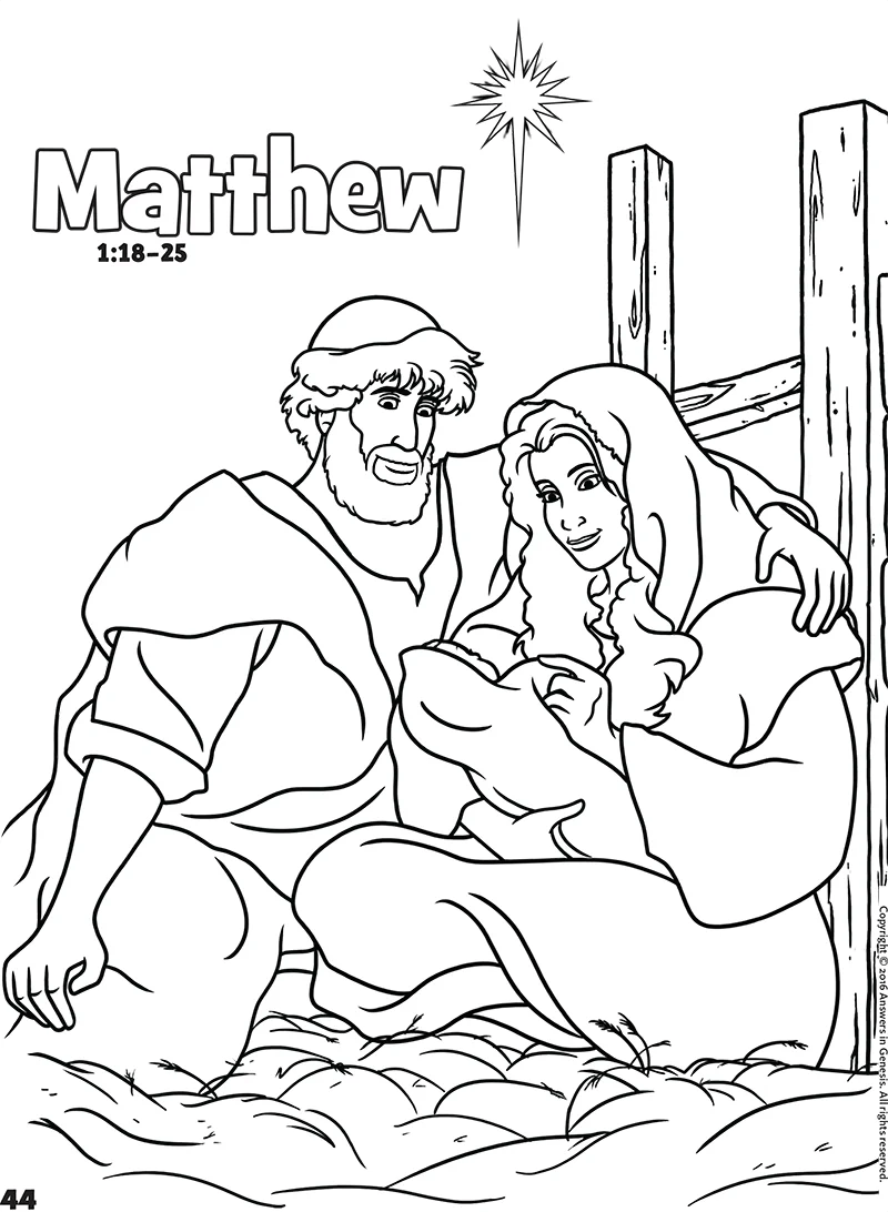 Matthew: Books of the Bible Coloring (Kids Coloring