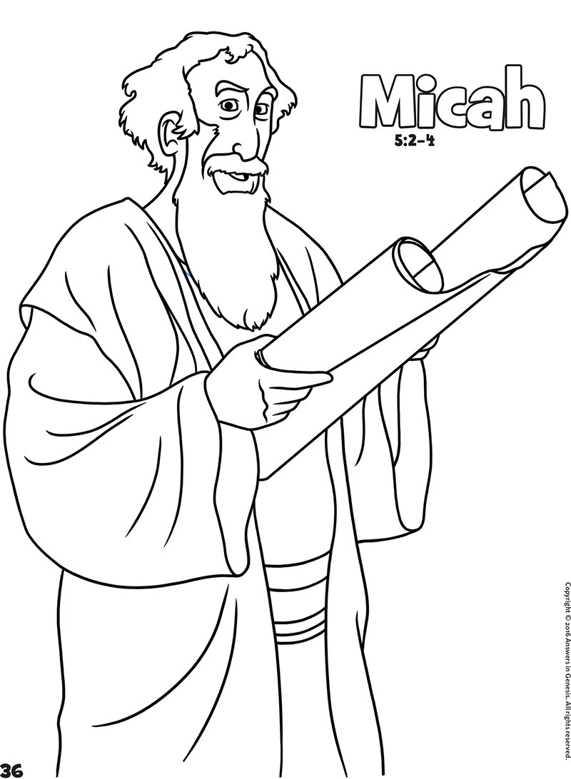 Micah: Books of the Bible Coloring (Kids Coloring Activity