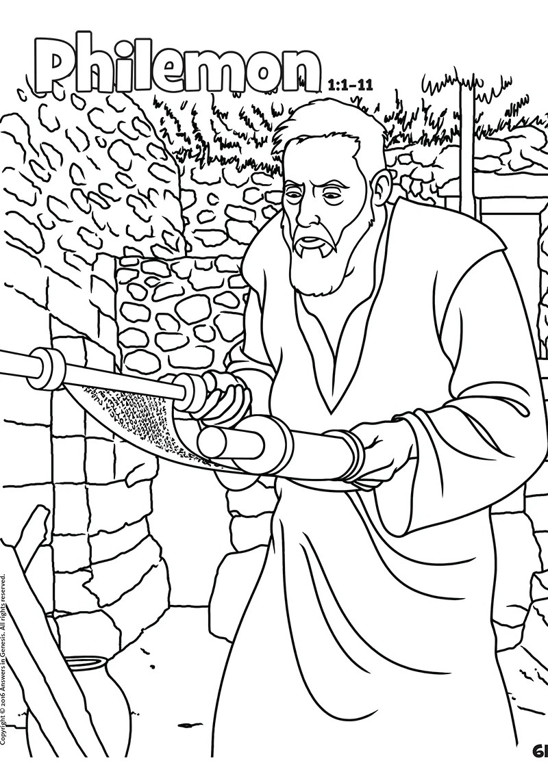 Philemon: Books of the Bible Coloring (Kids Coloring