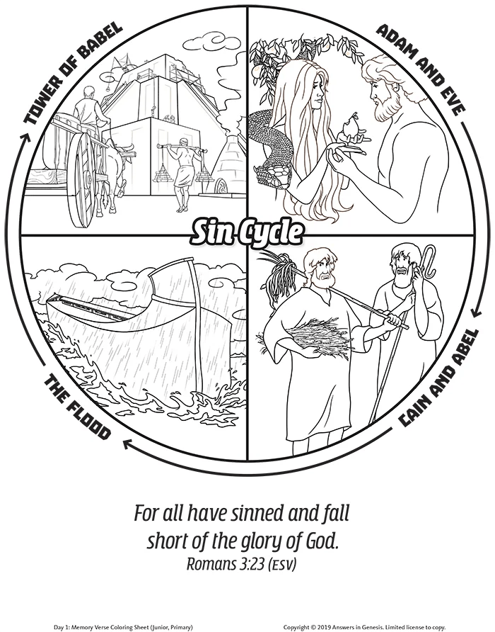 Romans 3:23 All Have Sinned (Kids Coloring Activity