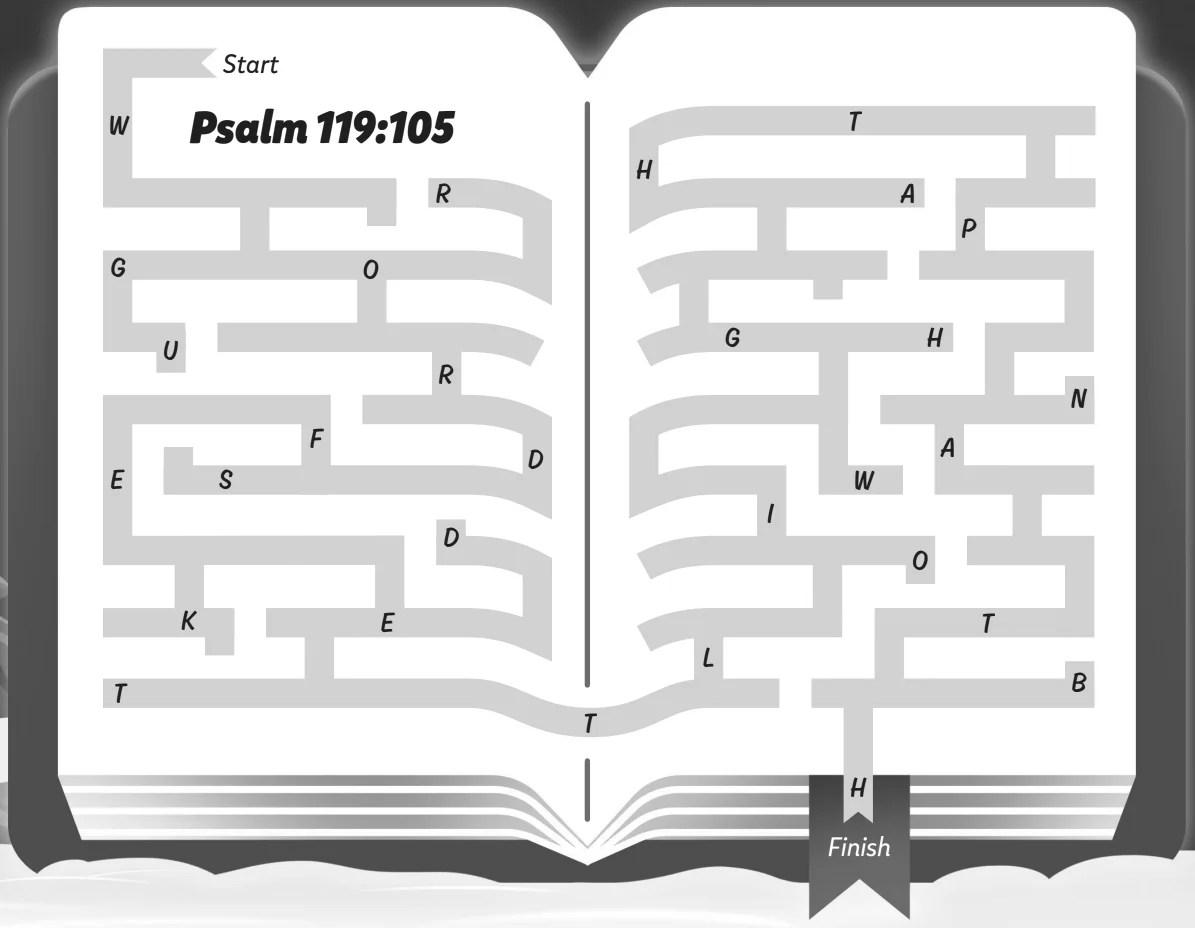 Psalm 119 105 Maze