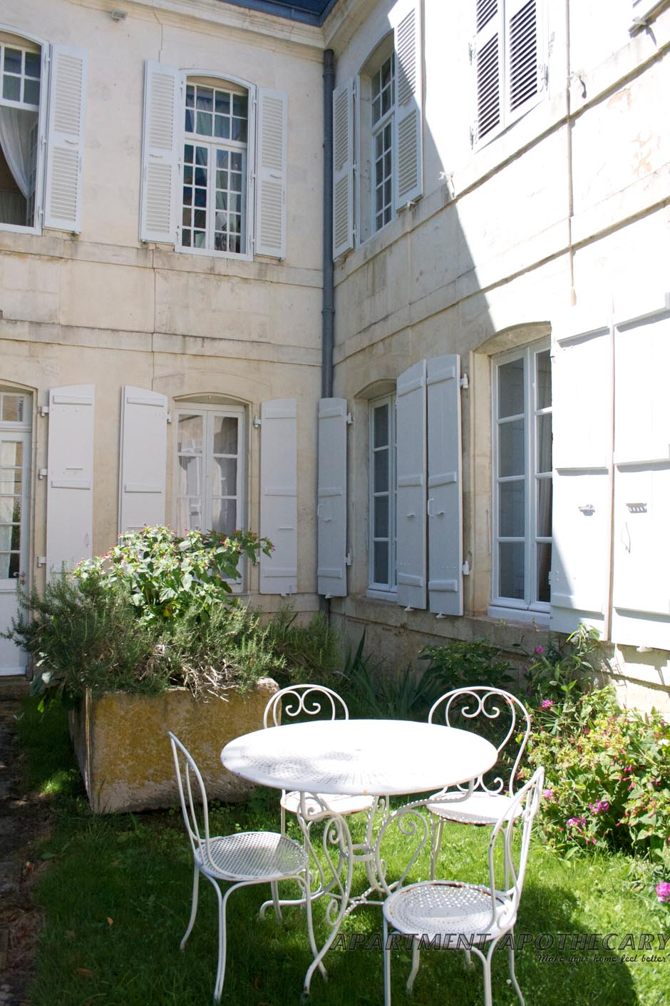 French Exterior Goodness Apartment Apothecary