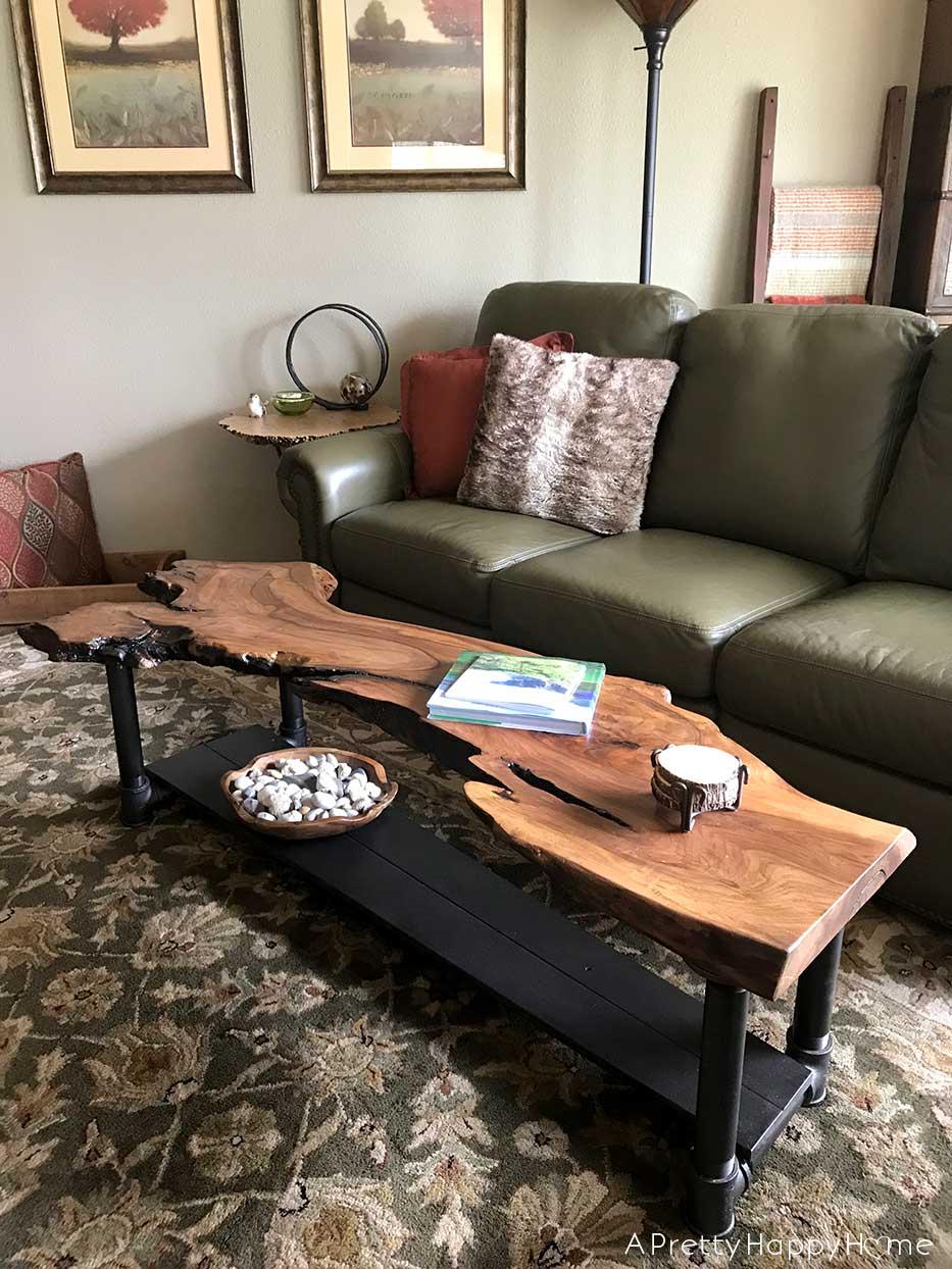 diy live edge wood coffee table a