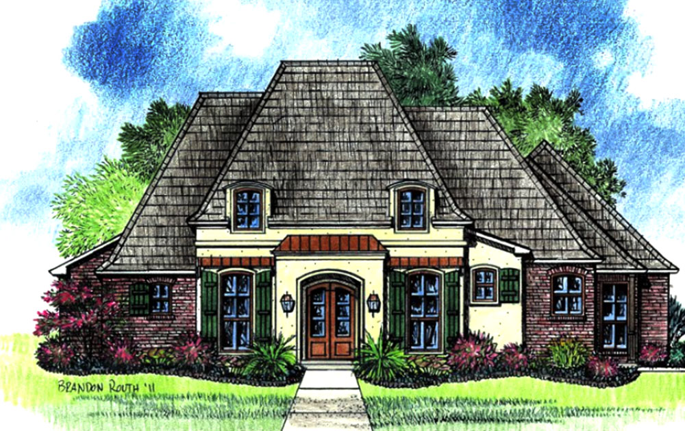 French Country Home With Open Floor Plan 14174kb