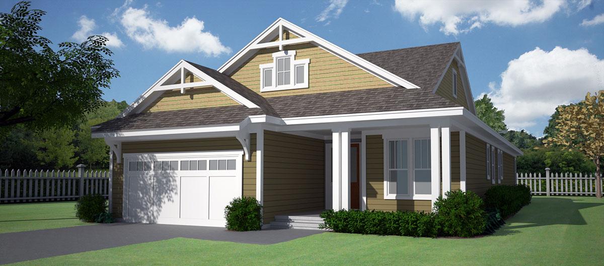 Craftsman House Plan With Open Floor Plan 15074nc