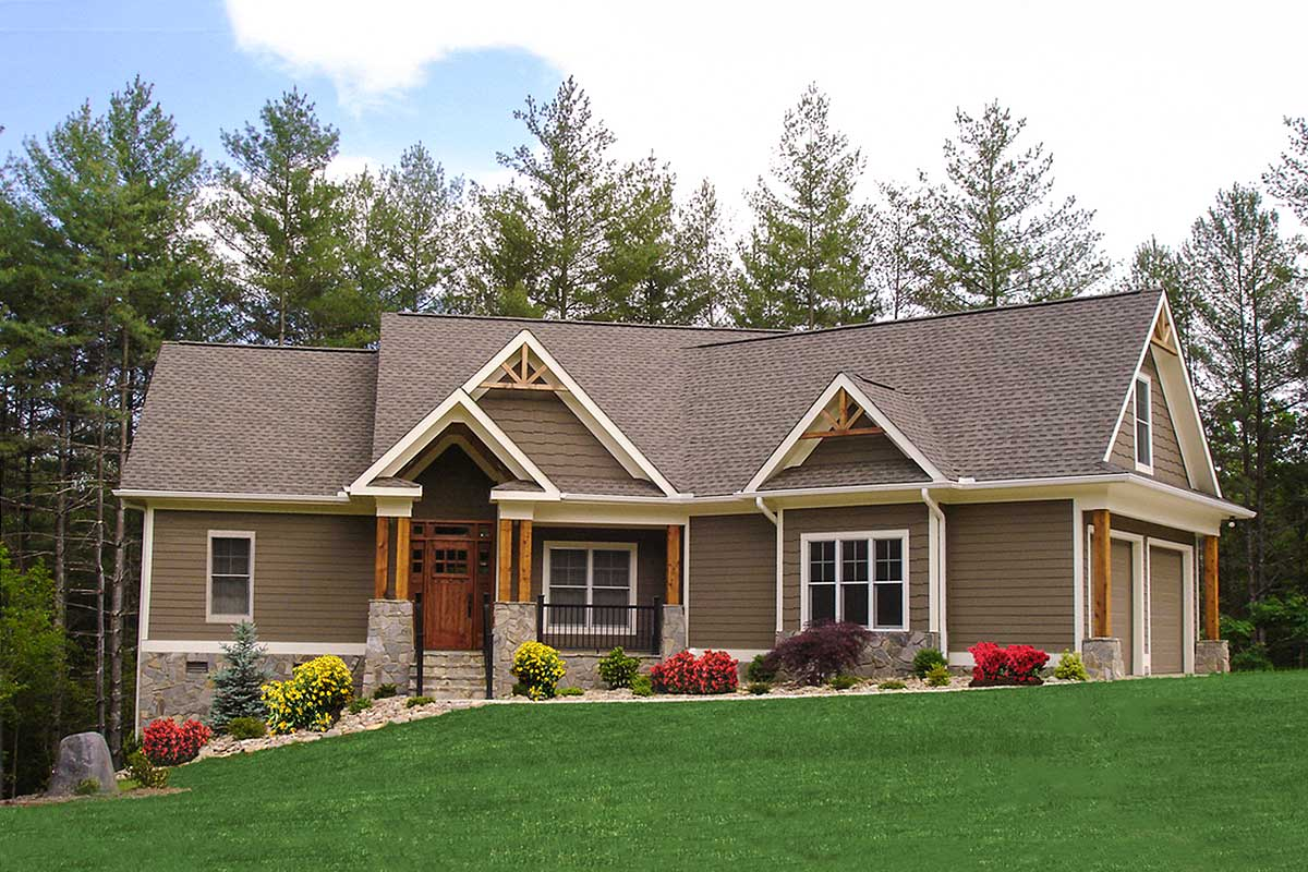 Craftsman-inspired Ranch Home Plan - 15883ge