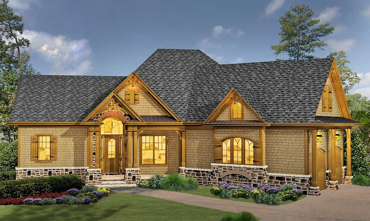 Classic Hip Roofed Cottage With Options 15886ge