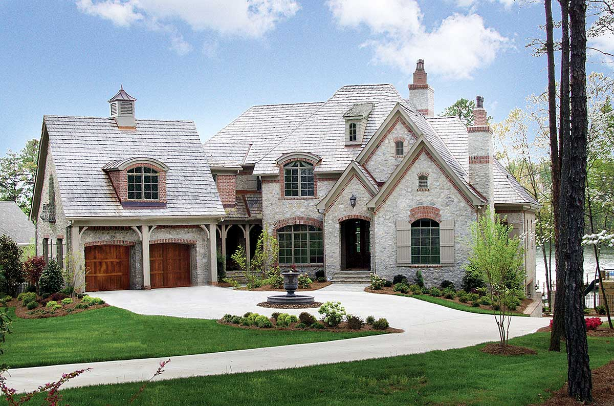 Stone And Brick French Country Home Plan 17528lv Architectural Designs House Plans