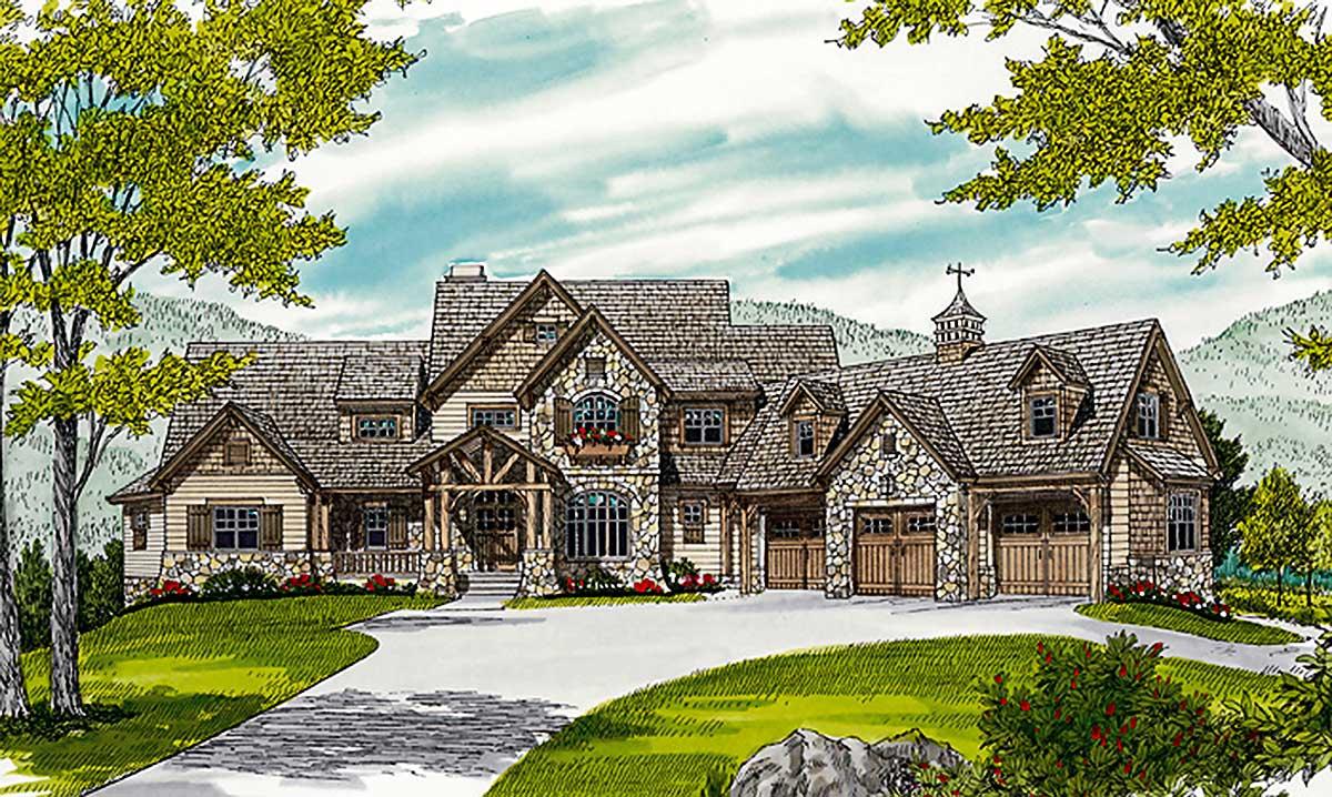 Grand Mountain Retreat 17657lv Architectural Designs