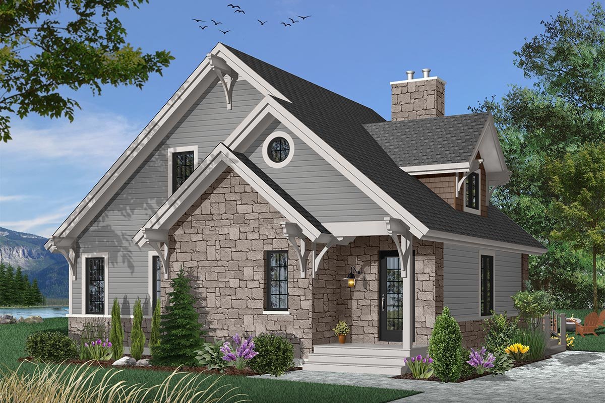 Four-seasons Cottage - 21091dr Architectural Design