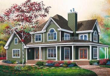 wrap around porch plans plan porches farmhouse marvelous meridian mt country front architecturaldesigns floor designs base homes architectural garage corner
