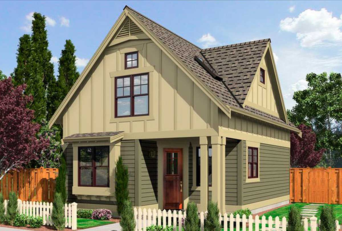 Narrow Lot Cottage - 23292jd Architectural Design