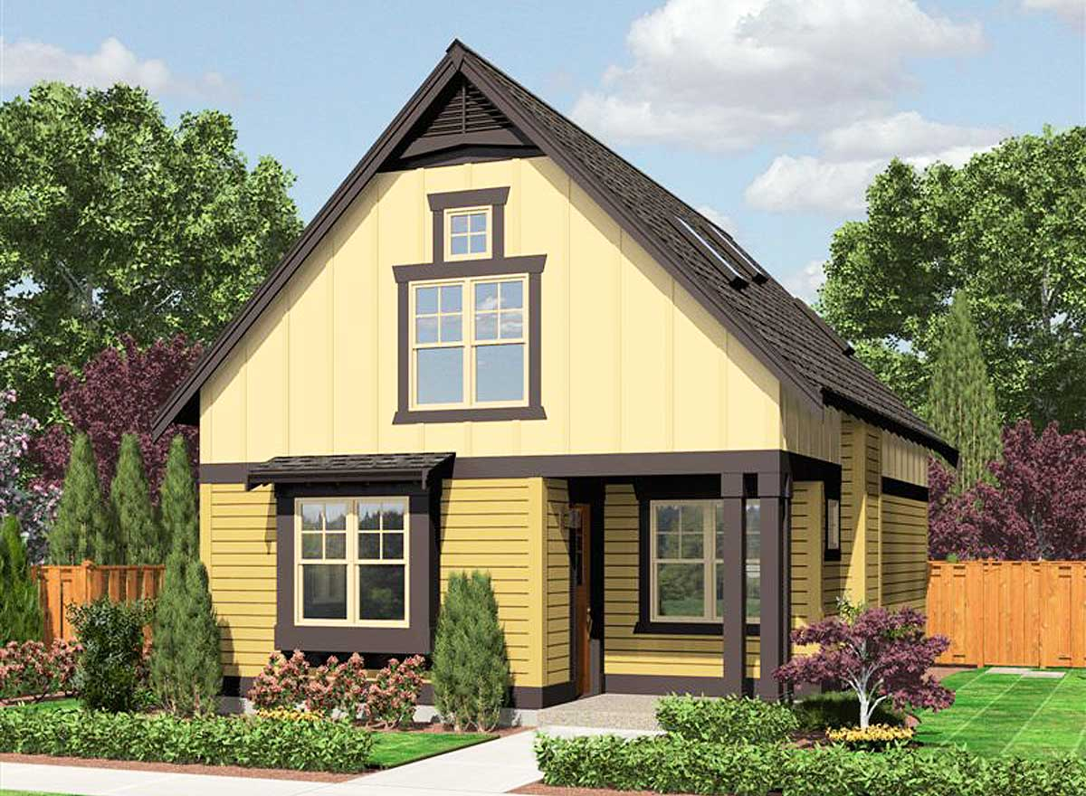 Cozy Cottage With Options - 23398jd Architectural