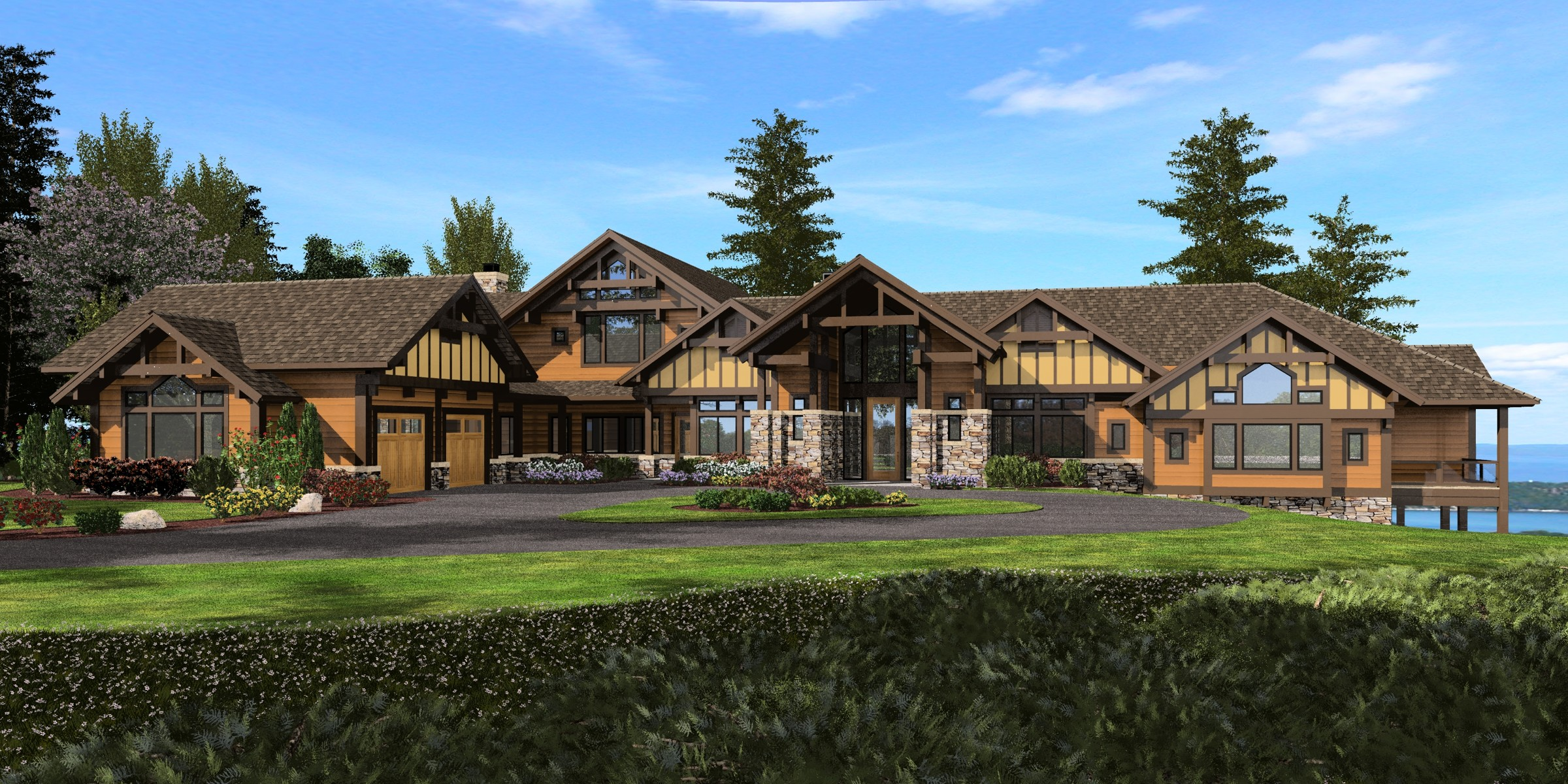Mountain Craftsman House Plan With Sweeping Views