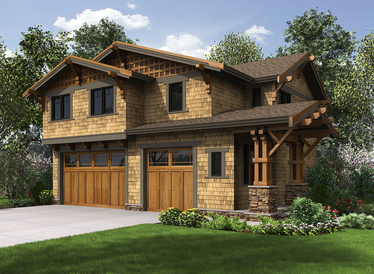 Rustic Carriage House Plan - 23602JD