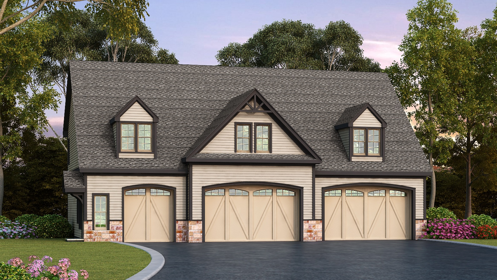 residential 5 car detached garage plan 29870rl architectural house plans with detached garage on wiring house to detached garage [ 1591 x 898 Pixel ]