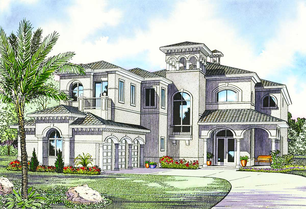 Luxury Mediterranean House Plan - 32058aa Architectural