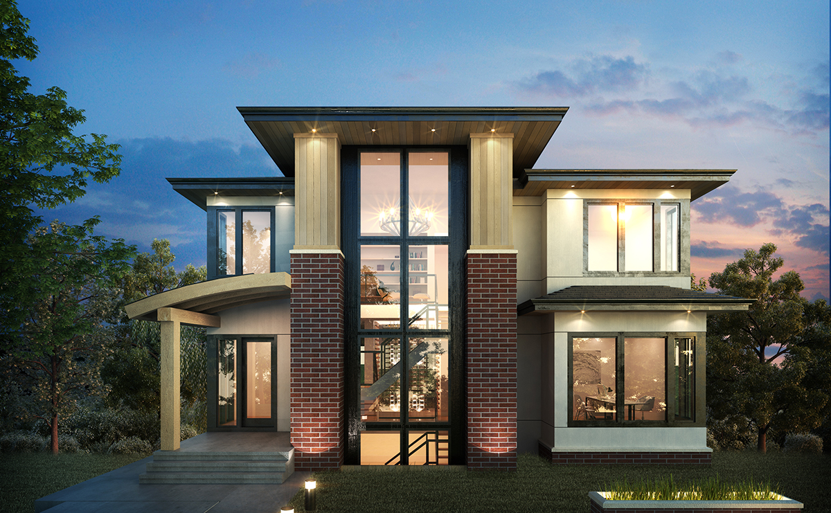 Exclusive 3 Level Modern Home Plan 64100cal