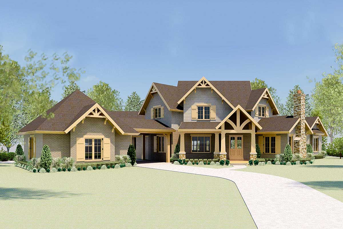 Luxury Mountain Home Plan With Theater And Two