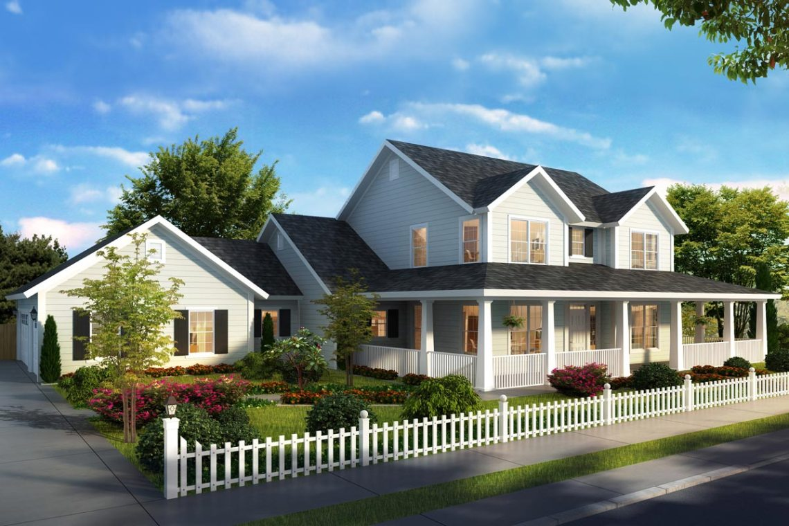 Expanded Farmhouse Plan with 3 or 4 Beds - 52269WM ...