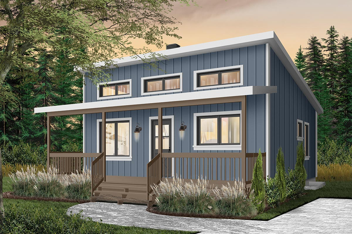 Tiny Weekend Getaway House Plan With Options 22458dr