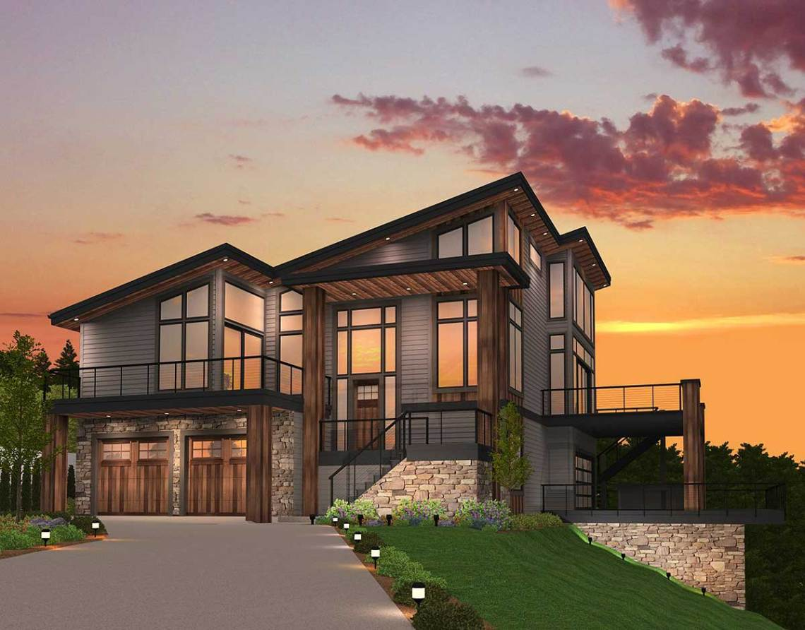 Exclusive Trendsetting Modern House Plan - 85147MS ...