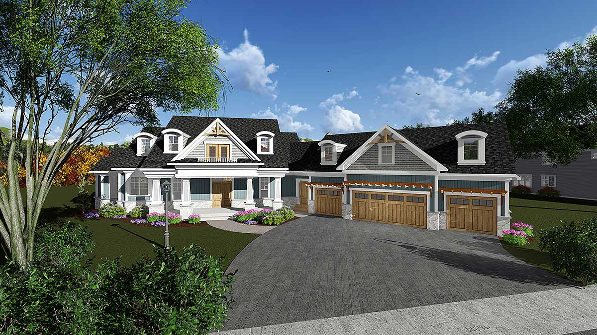 Luxury Craftsman House Plan 890033ah Architectural