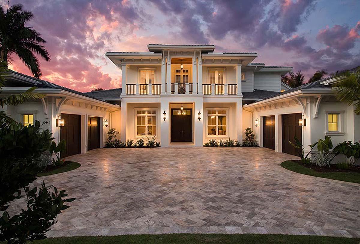 Spacious Tropical House Plan - 86051bw Architectural