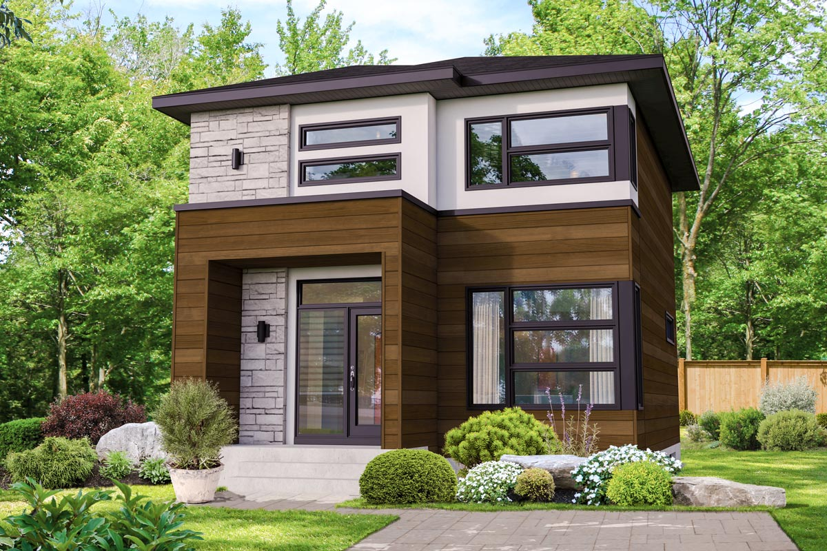 Compact Two-story Northwest House Plan - 80898pm