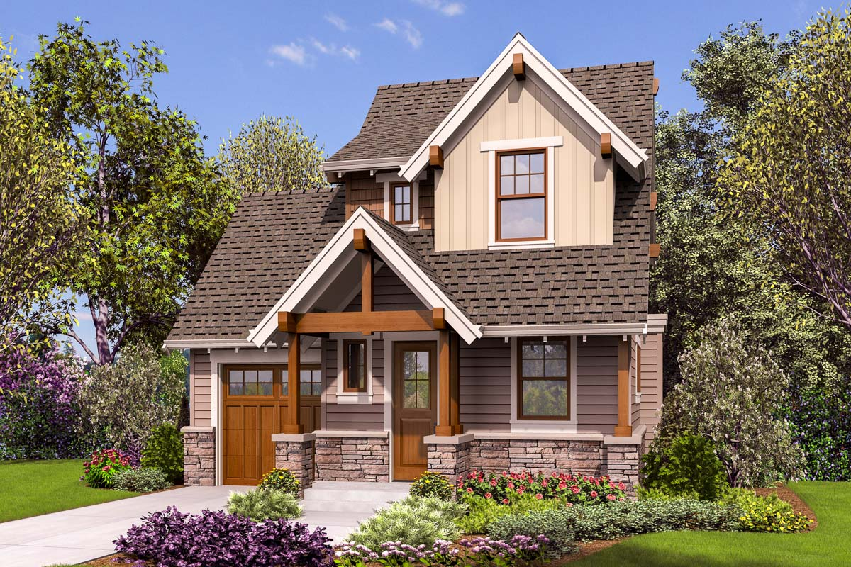 Tiny Craftsman House Plan 69654am Architectural