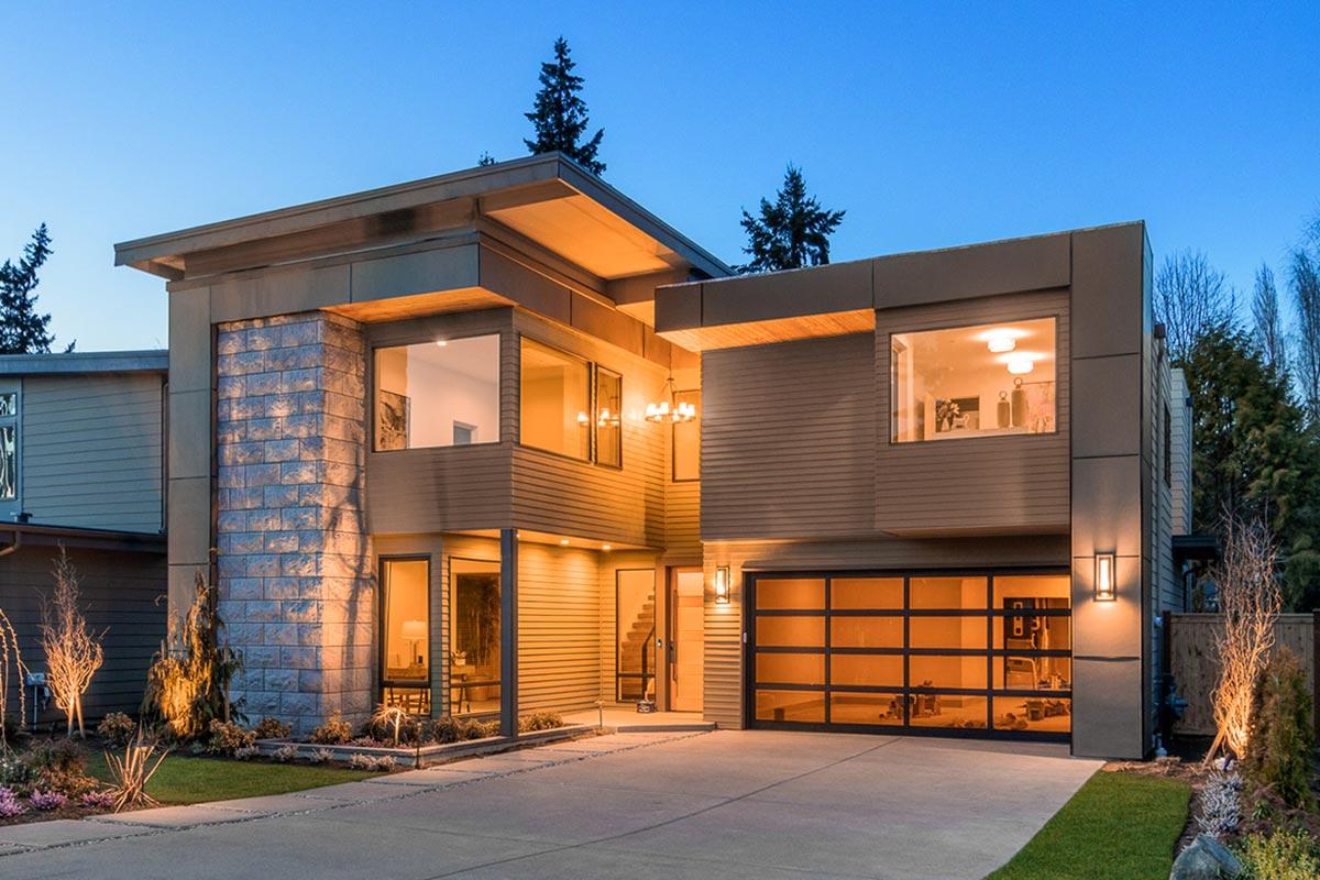 Narrow Lot Modern House Plan - 23703jd Architectural
