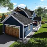 3 Bed House Plan With Gambrel Roof 890051ah Architectural Designs House Plans