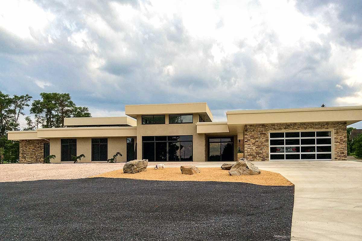 Modern House Plan Offering -level Living - 44151td