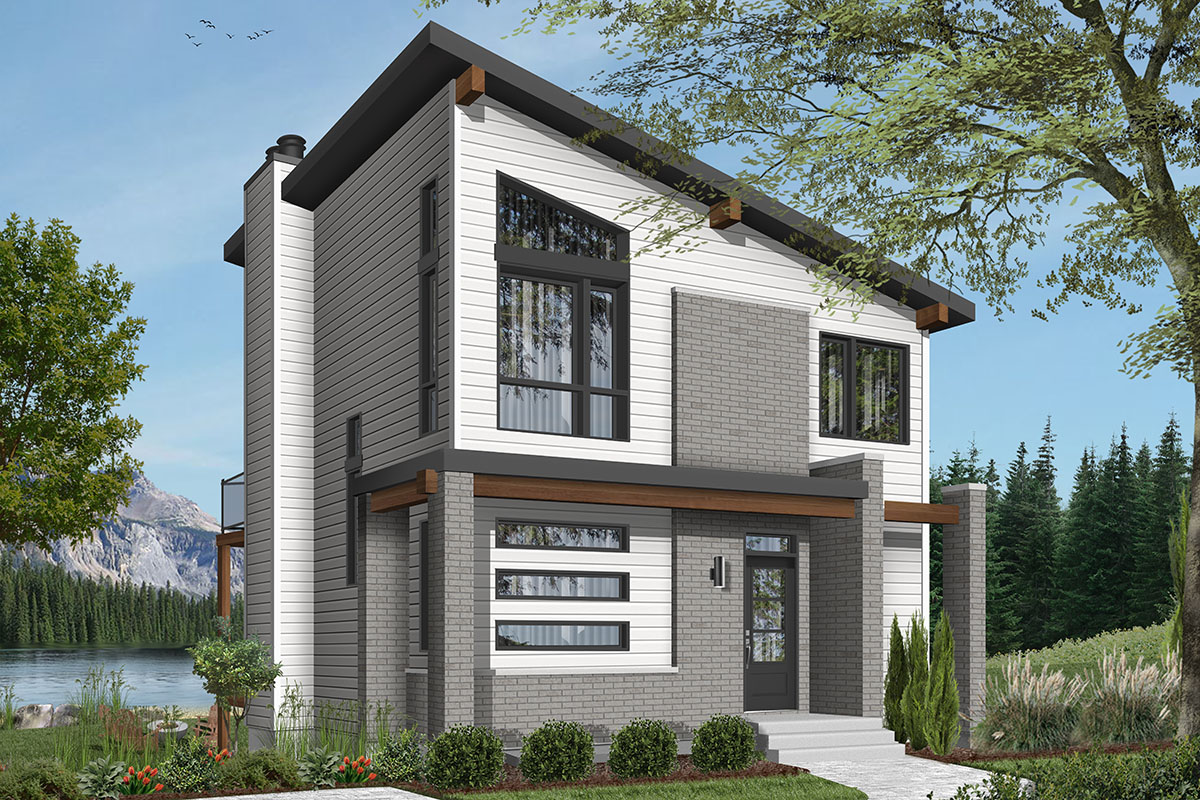 Contemporary Vacation House Plan 22492dr Architectural