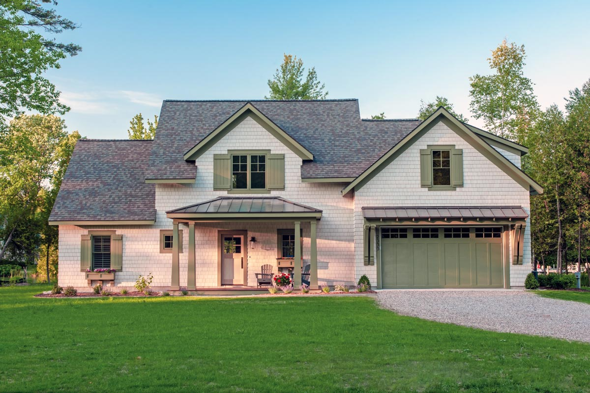 Shingle Style House Plan With Game Room And Bunk