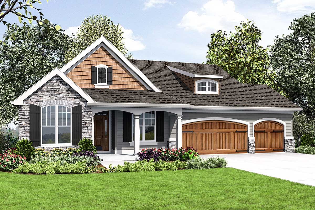 Cute Craftsman House Plan With Walkout Basement 69661am