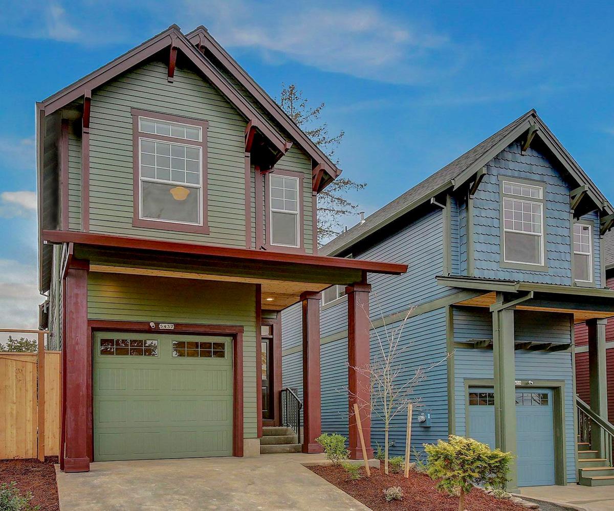 Narrow Lot 3 Bed Craftsman House Plan With 1-car Garage