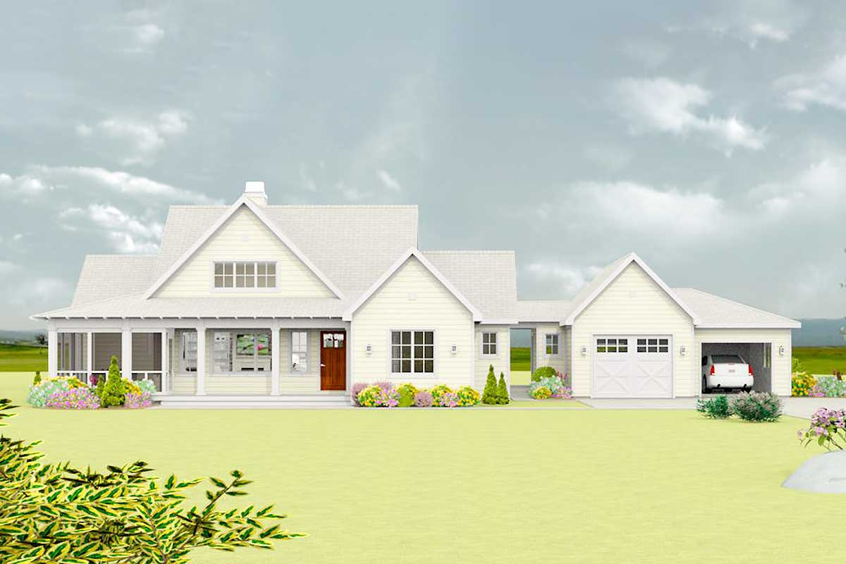 Exclusive Flexible Modern Farmhouse Plan 28925jj