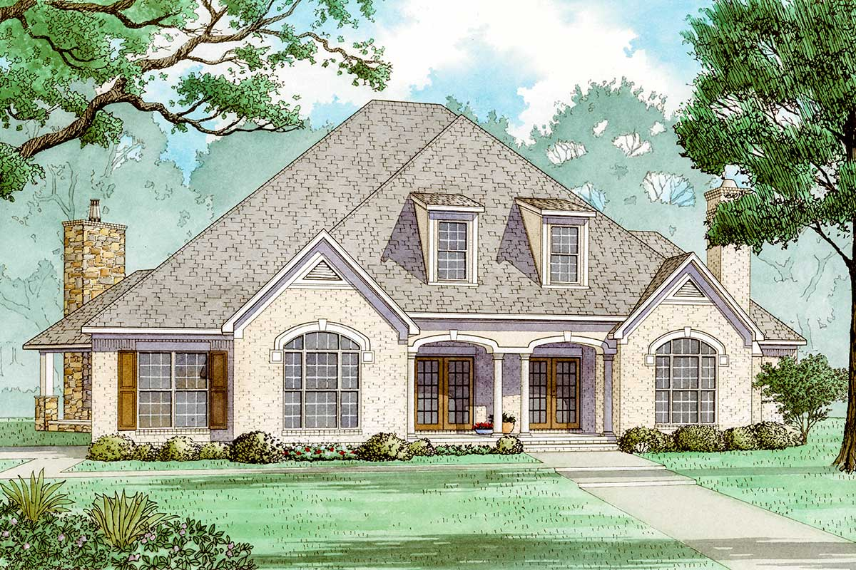 French Country House Plan With Upstairs Kids Floor
