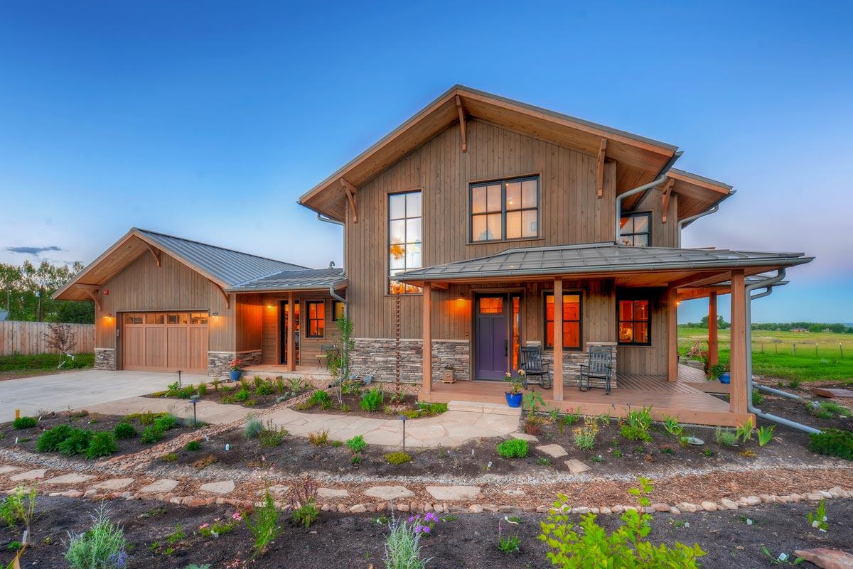 Modern Craftsman Farmhouse With Wrap- Porch