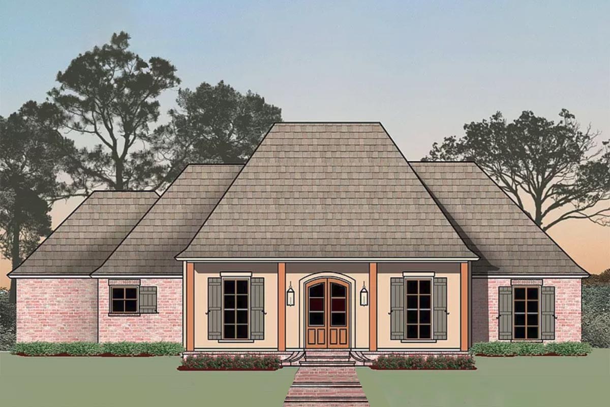 Classic Southern Acadian Home Plan 56428sm