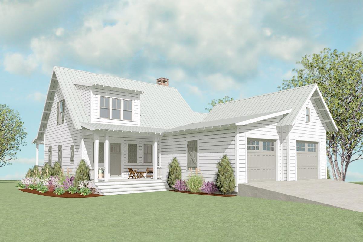 Exclusive 3 Bedroom Modern Farmhouse Plan 130021lls