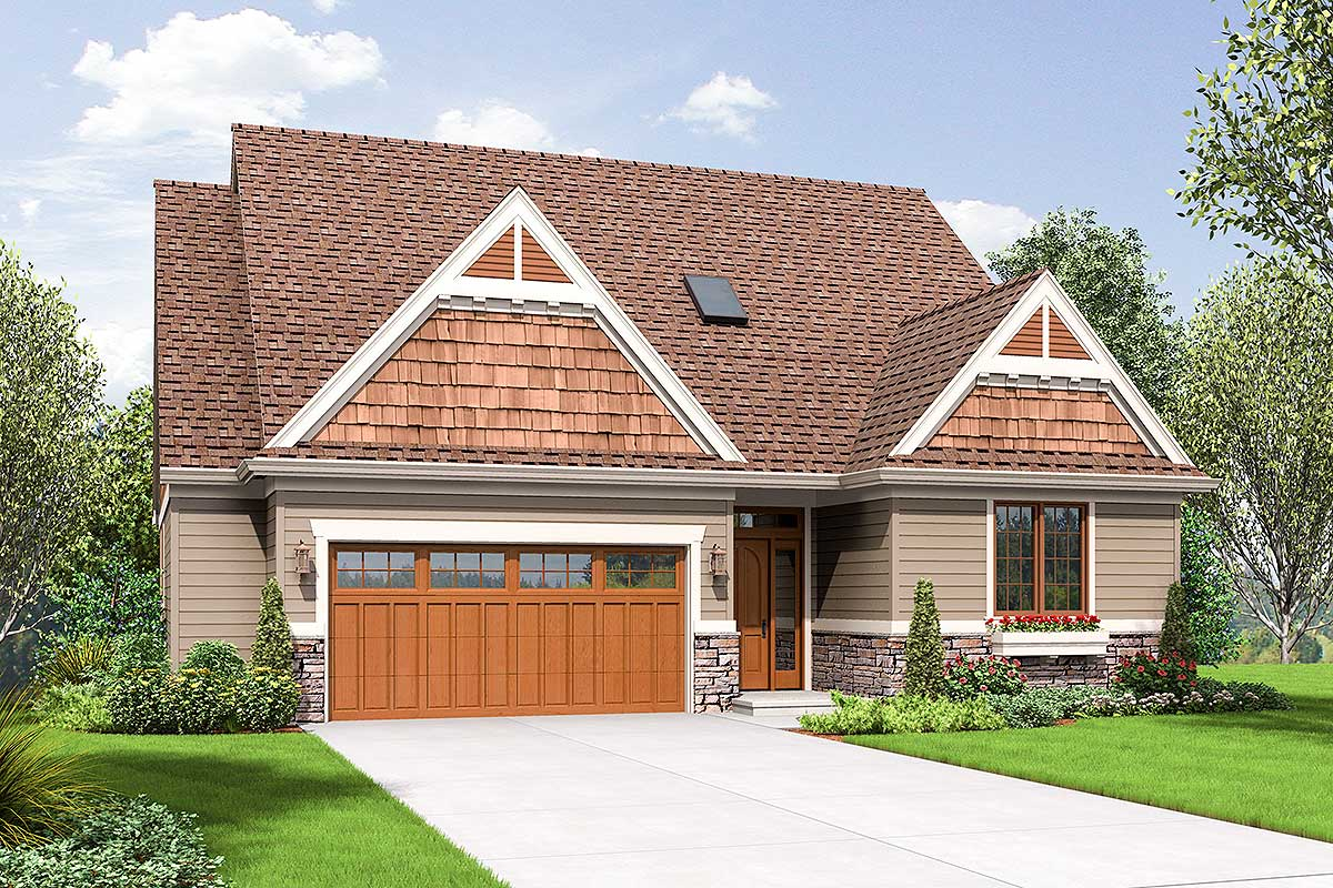 Craftsman House Plan With Vaulted Great Room And Finished