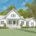 Exclusive Modern Farmhouse Plan With Breezeway Attached Garage 130025lls Architectural Designs House Plans