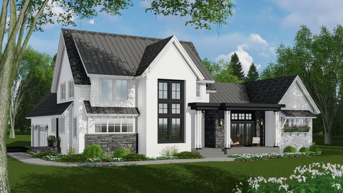 ModernMeetsFarmhouse with Optional Rear Garage Door to