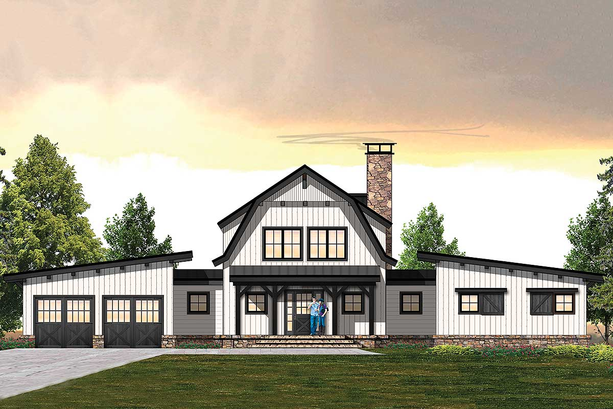 Country Inspired 3 Bedroom Farmhouse Plan With Main Floor